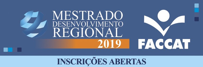 Mestrado em Desenvolvimento Regional