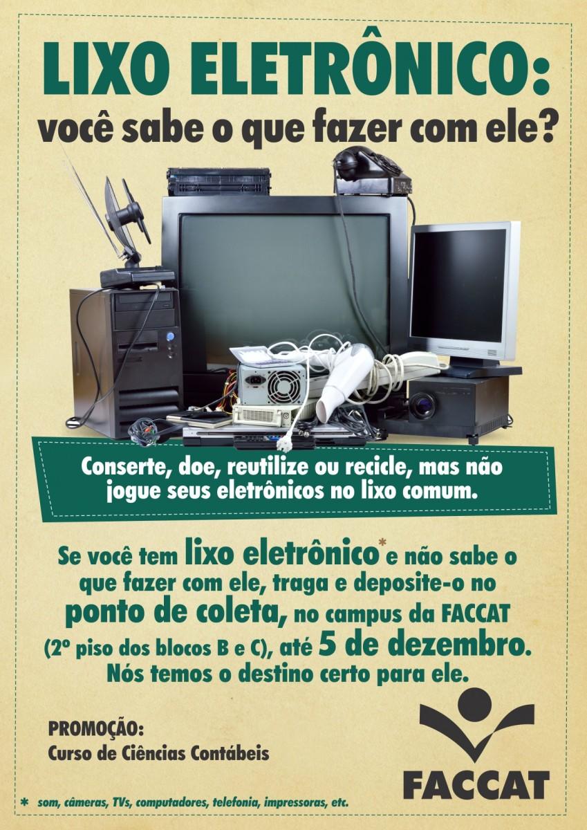 campanha de coleta do lixo eletr u00f4nico