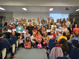 Foto do grupo de alunos