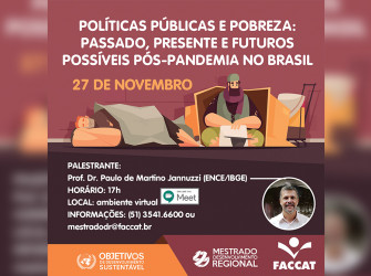 Palestra Políticas Públicas e Pobreza