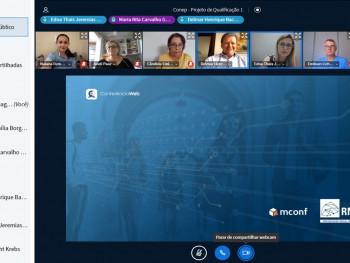 Reunião virtual contou com a participação do professor Delmar Backes