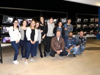 Foto dos alunos com o diretor