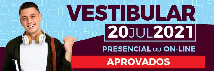 Banner Vestibular Faccat 2021/2 - Julho -  Lista dos Aprovados